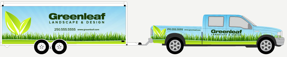 Trailer wraps & Trailer & Truck combination vehicle wraps in Victoria, BC